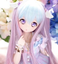 You are soo kawaii! Kawaii Doll, Kawaii Anime Girl, Anime Art Girl, Pretty Dolls, Beautiful Dolls, Cartoon Girl Images, Pelo Anime, Doll Museum, Disney Animator Doll