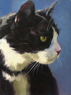 von Katya Minkina Oil ~ 8 x 6 - Katzen Animal Paintings, Animal Drawings, I Love Cats, Cute Cats, Cat Drawing, Cat Art, Pet Portraits, Pet Birds, Watercolor Paintings