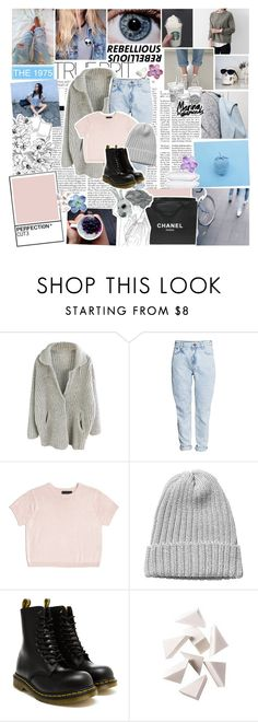 """""""Where do the good boys go to hide away, hide away? I'm a good, good girl who needs a little company Looking high and low, someone let me know Where do the good boys go to hide away, hide away?"""" by radiant-universe ❤ liked on Polyvore featuring Chanel, H&M, Cynthia Rowley, Monki, Dr. Martens, Bobbi Brown Cosmetics, PAM, women's clothing, women's fashion and women"""