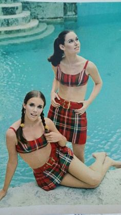 60s Mini-Skirt Bathing suit crazy cute