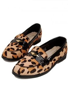 A non-garish animal print with classic loafer styling.