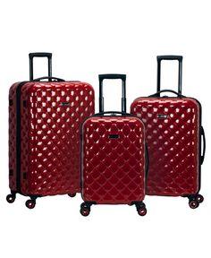 Rockland Luggage Quilt Hardside Polycarbonate Luggage Set Adult Unisex, Size: One Size, Red Luggage Store, Carry On Luggage, Travel Luggage, Travel Bags, Travel Items, Rockland Luggage, Lightweight Luggage, Hardside Spinner Luggage, Travel Backpack