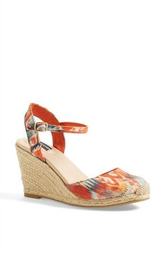 I have these, and I love em:)  Adam Tucker 'Bethany' Wedge Sandal available at #Nordstrom