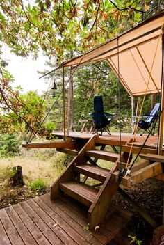 Tent (Open) at Walker-Pope House on Orcas Island, Washington by Gordon Walker