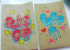 Bolsas marcadas                                                                                                                                                                                 More Maria Jose, Boyfriend Gifts, My Little Pony, Hand Lettering, Doodles, Scrapbook, Letters, Cool Stuff, Drawings
