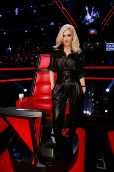 Gwen Stefani attends the live shows for The Voice