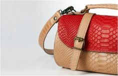 Chika Bag | Red.Natural Anaconda Print | Limited Edition