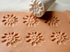Helpful stamp tool for your creation, made of polymer clay and works great with all types of clay and ceramics. SIZE: 0.8 (2.2 cm) in diameter