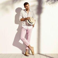 Calça chino rosa