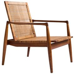 Finn Juhl SW 96 Easy Chair for Cabinetmaker Soren Willadsen | See more antique and modern Lounge Chairs at https://www.1stdibs.com/furniture/seating/lounge-chairs