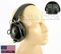 ELECTRIC NOISE CANCELING EAR MUFFS 85DB SHOOTING RANGE in Sporting Goods | eBay