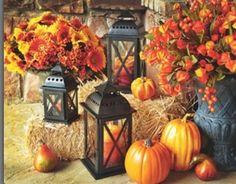 Fall wedding decorations  (Minus the pumpkins haha)