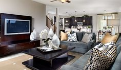 Stacey-TUC-Greatroom Brown | Stacey floor plan | Richmond American Homes | ,  |