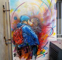 The best street art from around the world. Fresh graffiti works of art. The best art from Graffiti Art, Graffiti Bedroom, Best Street Art, Amazing Street Art, Amazing Art, Banksy, Modern Art, Contemporary Art, Street Art Utopia