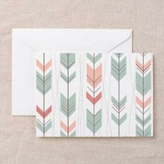 Large Arrows Pattern Greeting Cards (Pk Of 20)