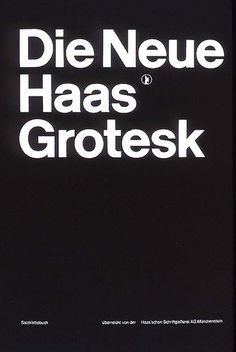 Cover Haas'che Schriftgiessersi AG typeface pattern book designed by Müller-Brockmann 1962.