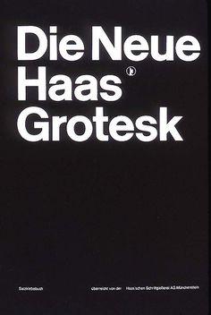 Die Neue Haas Grotesk — Josef Müller-Brockmann, 1962
