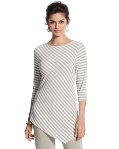Chico's Striped Top #chicos