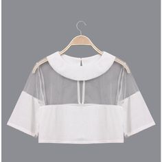 Yoins See-through Mesh Round Neck Keyhole Crop Top ($10) ❤ liked on Polyvore featuring tops, black, sexy crop top, see through tops, sexy tops, key hole top and transparent tops
