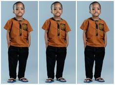 15 Very Stylish Short Sleeve Ankara Styles For Little Boys - AfroCosmopolitan Baby African Clothes, African Dresses For Kids, African Clothing For Men, African Shirts, Latest African Fashion Dresses, African Men Fashion, African Kids, Black Kids Fashion, Cute Kids Fashion