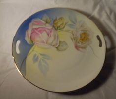 Decorative Arts Vintage German Celery Dish Rose Floral Pattern Durable In Use