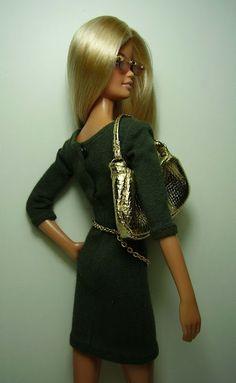 Nenets - coleccionistas de Barbie y creación: BB vestido 002-11 de oliva