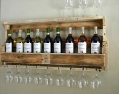 Etsy Wooden Pallet Wine Rack