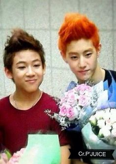 Bam Bam and Mark. Pre-debut