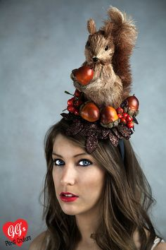 Autumnal Squirrel Fascinator: gg's Pinup Couture.....hahahahahahahah OMG..this one is for you Mary Therese