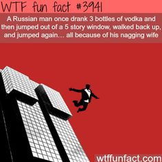 Russian man survives a 5 story fall, TWICE! - WTF fun facts