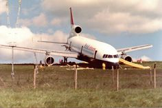 On 27 May 1985, a Lockheed TriStar (registration: G-BBAI) overran the runway at Leeds/Bradford Airport on landing from Palma after a rain shower. The aircraft was evacuated, with only minor injuries sustained by the 14 crew and 398 passengers. The accident report concluded that the overrun was caused by the inability of the aircraft to achieve the appropriate level of braking effectiveness.