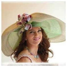 My fav milliner of all time-Frank Olive. Straw KY Derby Hat.
