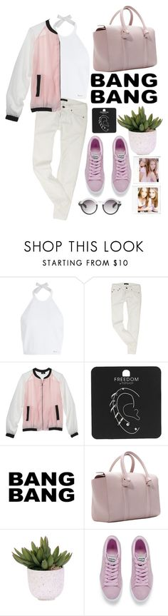 """""""Watch it!"""" by zoe-salazar ❤ liked on Polyvore featuring Dsquared2, Mossimo, Topshop, Lux-Art Silks, Puma, Luana and Monki"""