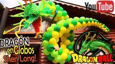 DRAGÓN Shen Long en GLOBOS de DRAGON BALL !! / Dragon in balloons