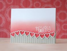 You Are A Sweetheart card with Laura Bassen! Such a beautiful little valentine for a friend. Watch the video at the Simon Says Stamp Blog!