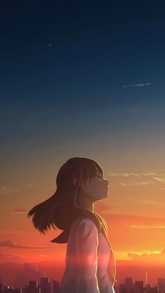 Wallpaper Animes, Anime Scenery Wallpaper, Animes Wallpapers, Cute Wallpapers, Sunset Wallpaper, Sky Anime, Anime Galaxy, Galaxy Art, Anime Girl Neko