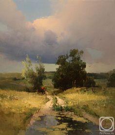 Gesso For Oil Painting Landscape Artwork, Watercolor Landscape, Watercolor Art, Beautiful Paintings, Beautiful Landscapes, Pastel Paintings, Pinturas Color Pastel, Russian Art, Art Oil