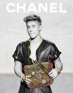 Justin Bieber - Collages by artist Kalen Hollomon / (@kalen_hollomon) #chanel #itbag
