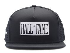 Logo Tech Black Snapback Cap by HALL OF FAME