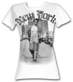 James Dean New York Walking women's t-shirt celebrity