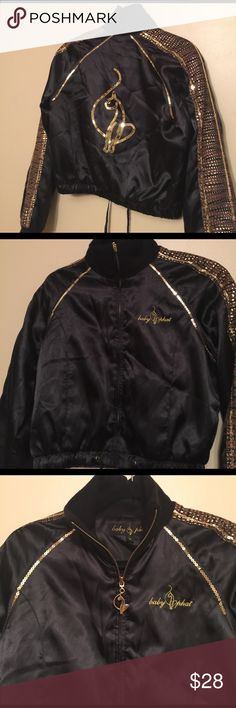 Flashy Baby Phat jacket Rare baby phat jacket worn few times very cute for night out Baby Phat Jackets & Coats Vests