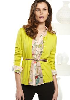 love the bright + the floral + metallic belt