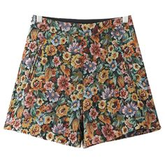 Chicnova Fashion Boho Floral Print Shorts ($16) ❤ liked on Polyvore featuring shorts, high rise shorts, floral shorts, flower print shorts, highwaist shorts and high-waisted shorts