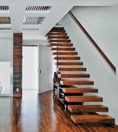 escadas Madeira 5 Fotos e Modelos de Escadas Caracol, Alumínio e Madeira