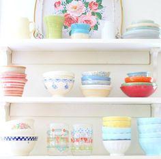 Heart Handmade UK: Organizing The Kitchen | Bright Colours and Retro Crockery from Nest Decorating