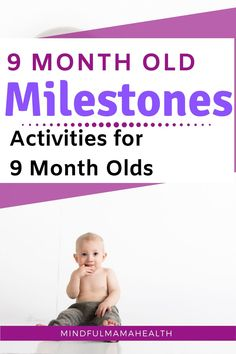 9 Month old milestones and activities for playing with your baby. Learn all about 9 month old developmental milestones and the best activities for 9 month olds. Baby activities for 9 month olds to help them reach milestones. 9 Month Old Development, Newborn Development, Development Milestones, 9 Month Milestones Baby, Baby Milestone Chart, 9 Month Old Activities, Newborn Activities, 9 Month Old Baby, 9th Month