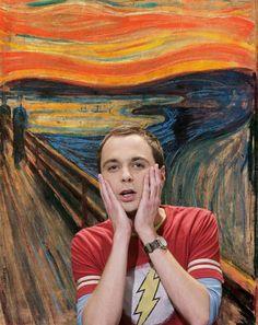 The Scream: Sheldon, The Big Bang Theory Big Bang Theory Quotes, The Big Theory, Big Bang Theory Funny, Jim Parsons, Big Bang Theory Zitate, Memes Super Graciosos, Big Beng, Sea Wallpaper, Fictional World