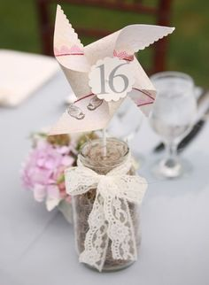 In love with this pinwheel table number idea! What do you think?