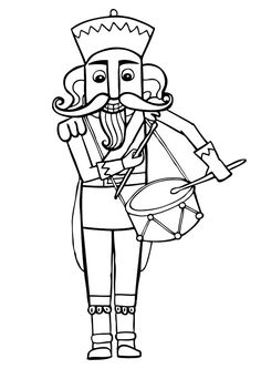 Nutcrackers Coloring Pages And Little Ones On Pinterest