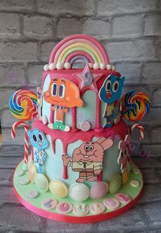 Amazing World Of Gumball Birthday Cake made by Nicolaz Cakes Uk